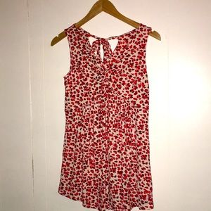 Maternity Floral print tie back knit tank top